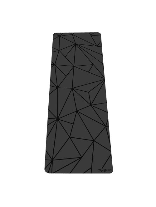 Tapis de yoga Infinity GEO NOIR non glissant épais et long