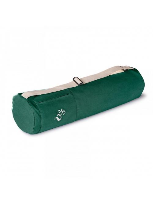 Sac de yoga en coton bio vert