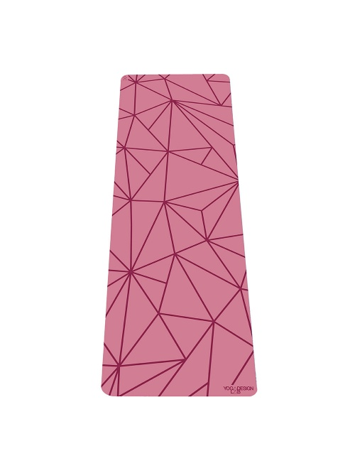 Tapis de yoga rose GEO non glissant épais et long