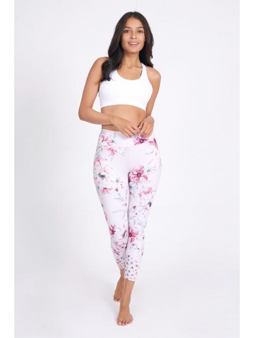 Legging de yoga Sabrina imprimé rose et fleuri