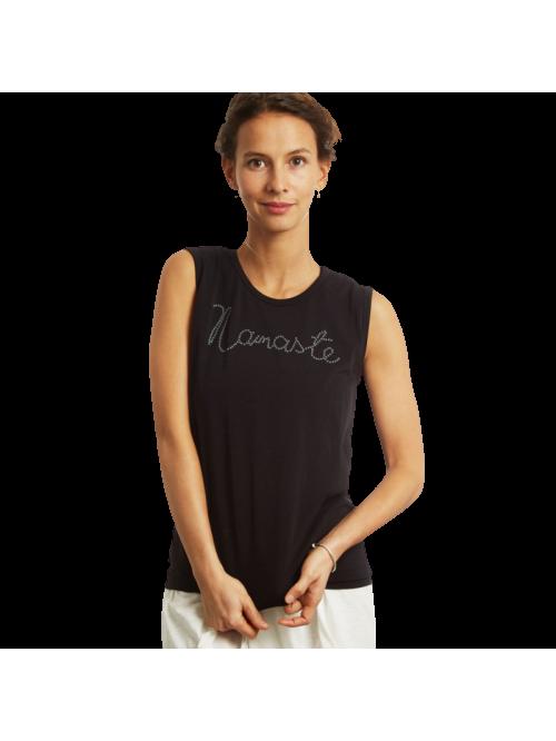 Tee shirt de yoga yantra noir