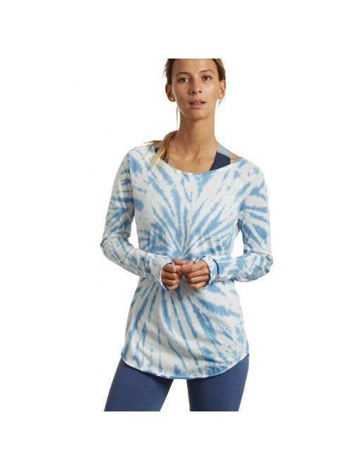 Tee shirt Karani Tie & Dye bleu