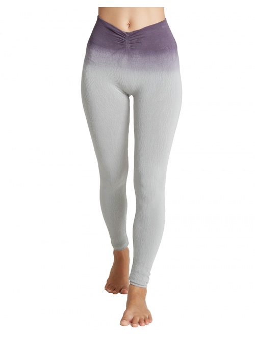 Legging de yoga meditation Tie & dye gris