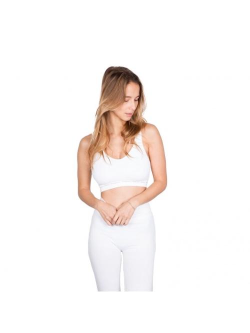 Brassière de yoga MATRIKA blanche