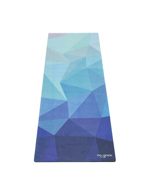 Tapis de Yoga studio GEO BLUE 3,5mm L178cm
