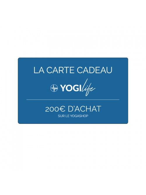 Carte cadeau yogilife valeur 200€