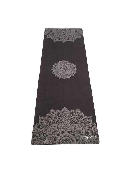 Tapis de yoga antidérapant Mandala Black 3,5mm L178cm