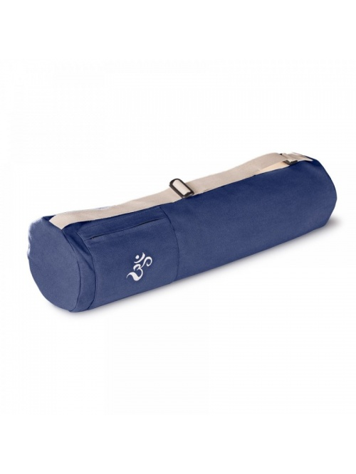 Sac de yoga en coton bio Bleu Royal