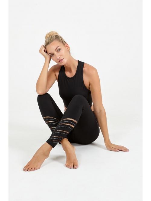 Legging de yoga ajouré making waves