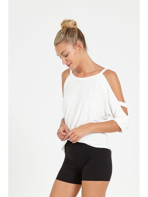 Tee shirt de yoga epaules nues